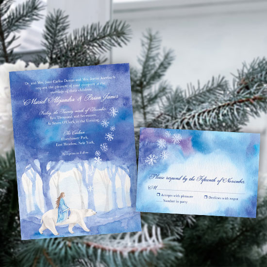 Winter Wonderland Wedding Invitation Suite