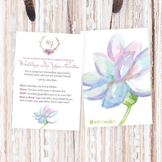 Yoga Wedding Card
