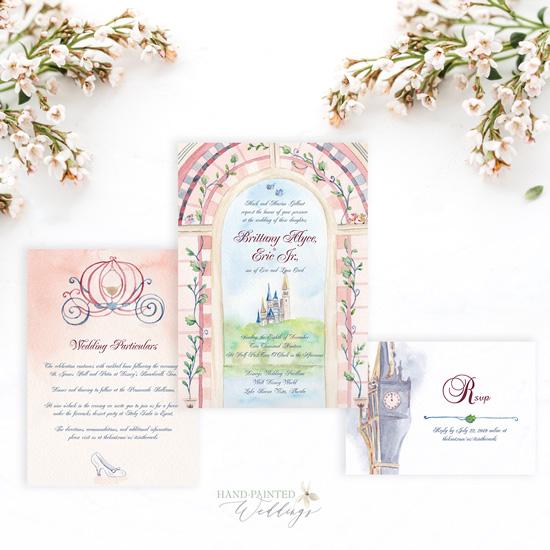 Cinderella Inspired Disney World Wedding Invitation Suite