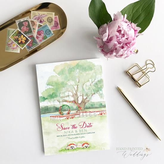John's Island Wedding Save-the-Date